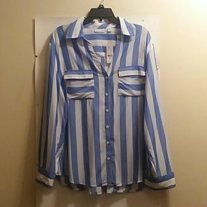 NEW YORK AND COMPANY SHIRT, SIZE XL